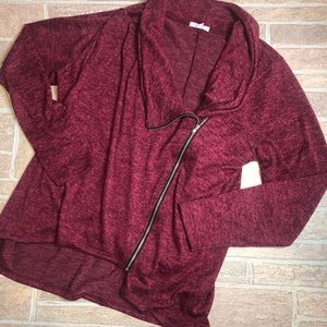 Maurices 1 plus size Sweater Heathered Red